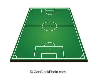 Soccer or football field on white