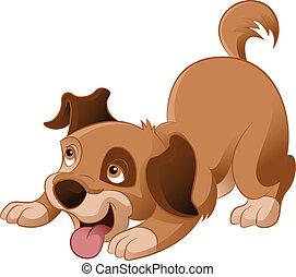 Cartoon Puppy - Vector image of an happy cartoon puppy