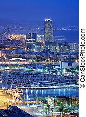 City of Barcelona at Night
