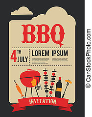 HAPPY independence day of America, card or invitation