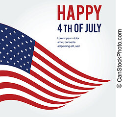American flag background for Independence Day . illustration