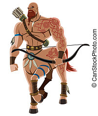Centaur on White - Angry centaur. No transparency and...