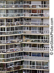 Apartment block in Paris - Public big apartment building in...