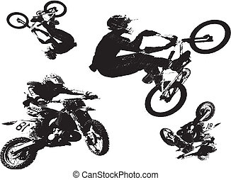 BMX MotorCycle Bike Vector Clipart Design Illustration...