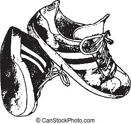 Running Shoes Vector Clipart Design Illustration created in...