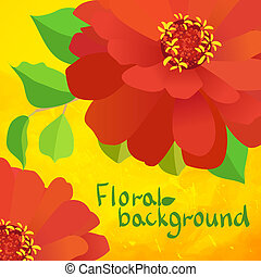 border background with flowers
