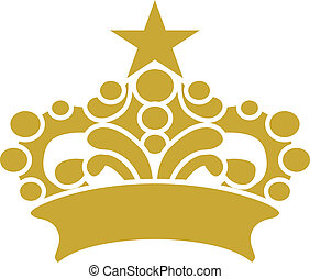 Golden Crown Tiara Vector Clipart Design Illustration...