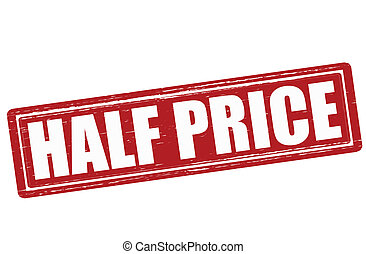 Half price - Stamp with text half price inside, vector...