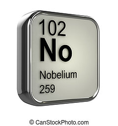 3d Nobelium periodic table element - 3d render of nobelium...
