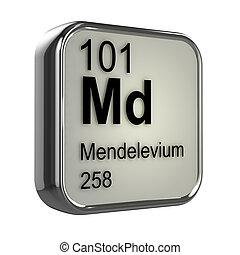3d Mendelevium Periodic Table element - 3d render of...