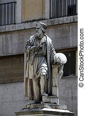 Parmigianino statue. Parma. Emilia-Romagna. Italy.