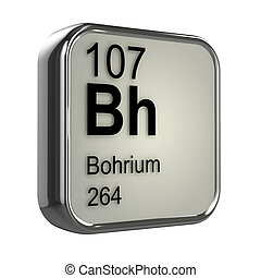 3d Bohrium periodic table element - 3d render of Bohrium...