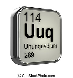 3d Ununquadium periodic table element - 3d render of...