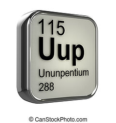 3d Ununpentium periodic table element - 3d render of...