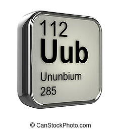3d Ununbium periodic table element - 3d render of Ununbium...