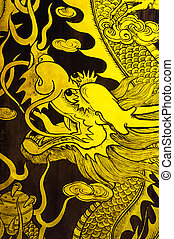 golden dragon painting