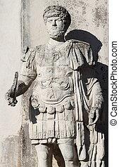 Roman emperor Hadrian - Statue of the roman emperor Hadrian...