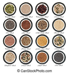 Superfood - Large seed super food selection in porcelain...