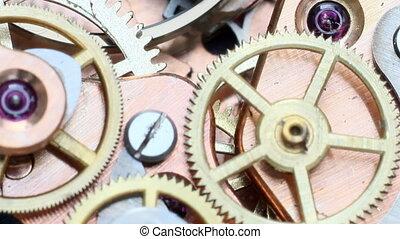 clockwork - vintage clockwork macro footage