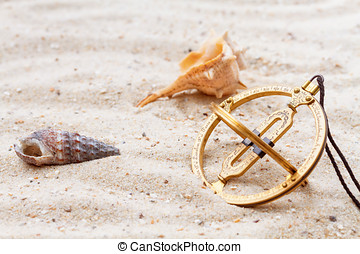 Sundial in the sand