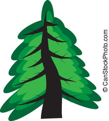 Tree - Simple vector illustration of a tree in the style of...