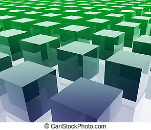 Cubes grid illustration glossy metal style isolated