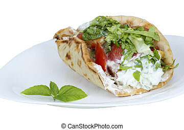 Shawarma isolated on a white background