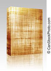 Parchment texture box package