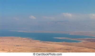 Dead Sea view from the mountain top