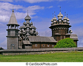 Kizhi pogost - The pogost is the area inside a fence which...