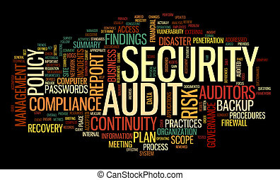 Security audit in word tag cloud - Security audit in word...