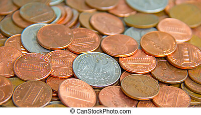 US Coins - Huge pile of the US coins