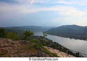 Danube bend in Hungary - landscape from Visegr