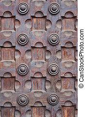 Old wooden door background - Photo of old wooden door-...