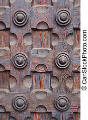 Old wooden door background - Photo of old wooden door-...