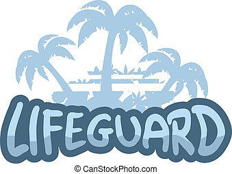 Lifeguard stiker - Creative design of lifeguard stiker