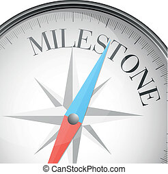 compass milestone - detailed illustration of a compass with...