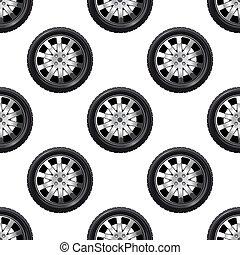 Automobile wheel seamless pattern