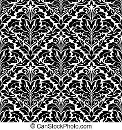 Bold damask seamless pattern