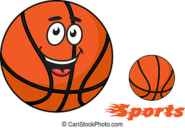 Basketball ball with flaming Sports text