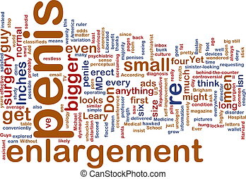 Penis enlargement word cloud - Word cloud concept...