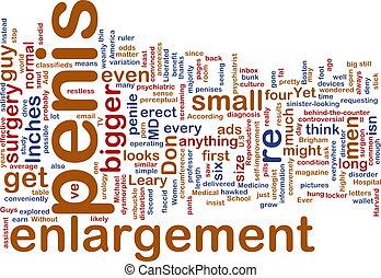 Penis enlargement word cloud - Word cloud concept...