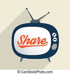 Share - Concept for support, knowledge sharing, charity and...