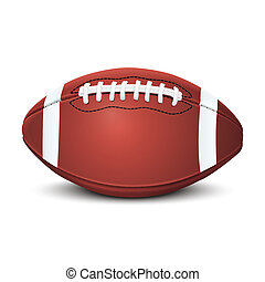 Realistic american football ball