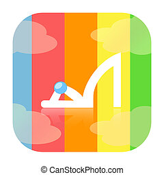 High heel shoe - High heel woman shoe rainbow icon isolated...