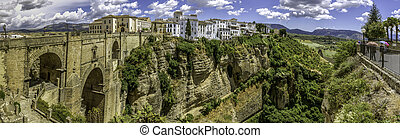 "Ronda Panoramic view over Puente Nuevo (""New Bridge"") The..."
