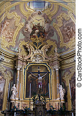 Altar in the church of Saint Vitale Parma Italy - Altar in...