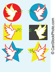 Dove peace - Dove of peace art vector illustration