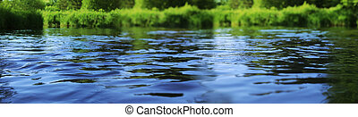 Water surface - Ripple on the surface of the water on the...