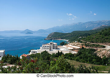 Montenegro coast - A panormaic view of the  coast